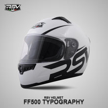 Load image into Gallery viewer, RSV FF500 TYPOGRAPHY BUNDLING WITH VISOR DARKSMOKE / IRIDIUM SILVER