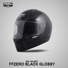 Load image into Gallery viewer, RSV FFZERO BLACK GLOSSY BUNDLING WITH VISOR DARKSMOKE / IRIDIUM SILVER