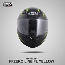 Load image into Gallery viewer, RSV FFZERO LINE YELLOW BUNDLING WITH VISOR DARKSMOKE / IRIDIUM SILVER