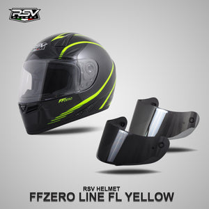 RSV FFZERO LINE YELLOW BUNDLING WITH VISOR DARKSMOKE / IRIDIUM SILVER