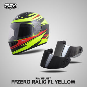 RSV FF ZERO RELIC FL YELLOW BUNDLING WITH VISOR DARKSMOKE / IRIDIUM SILVER
