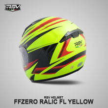 Load image into Gallery viewer, RSV FF ZERO RELIC FL YELLOW BUNDLING WITH VISOR DARKSMOKE / IRIDIUM SILVER