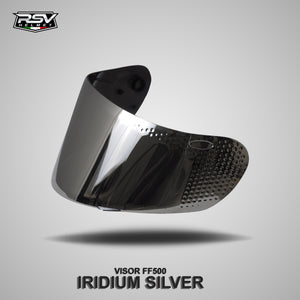 RSV FFZERO BLACK GLOSSY BUNDLING WITH VISOR DARKSMOKE / IRIDIUM SILVER