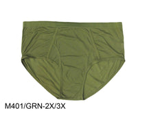 Load image into Gallery viewer, Men's Color Briefs W/Front Opening (Green/Orange) Plus Size