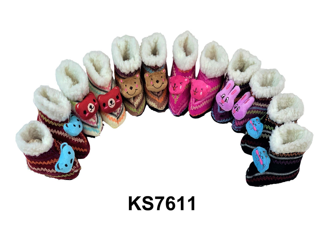 Girl's Slipper Boots