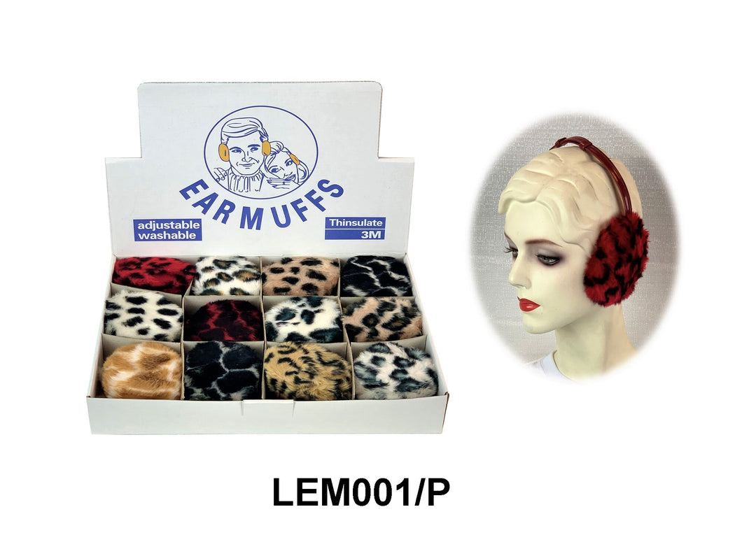 Earmuffs W/Animal Print