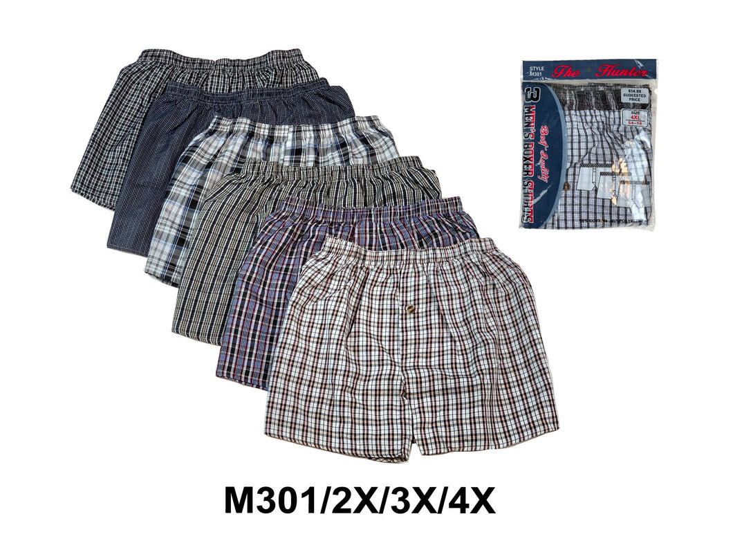 Men Woven Plus Boxer Shorts