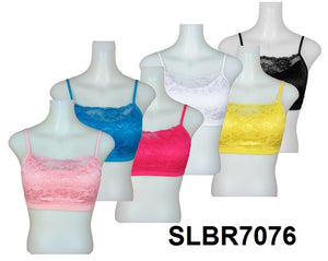 Ladies' Seamless Bra W/Padding+Lace
