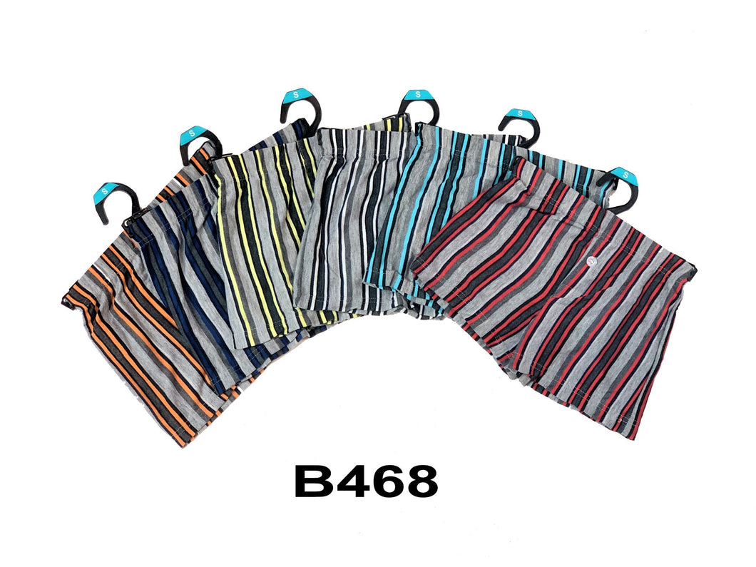 Boy's Cotton Stripe Boxers W/Hanger