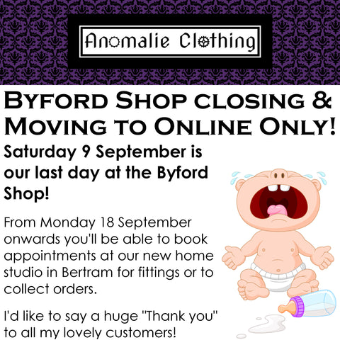 Byford Shop Closing & Afterpay Coming to anomalieclothing.com.au!