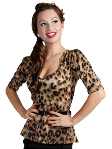 Leopard Print Beverly Top
