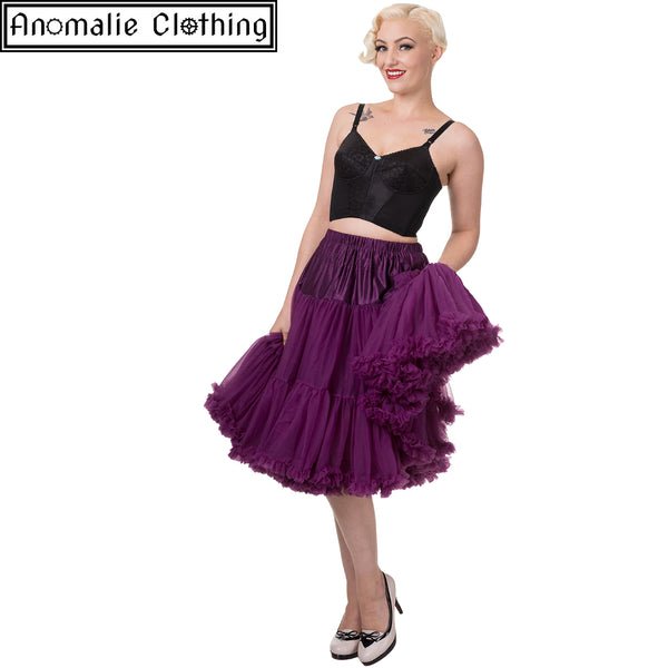"26"" Long Lifeforms Petticoat in Aubergine"