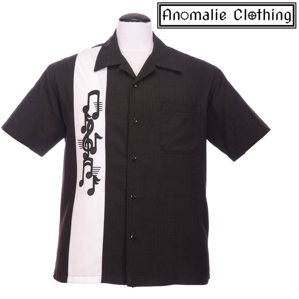 Last Call Music Note Button Up Shirt