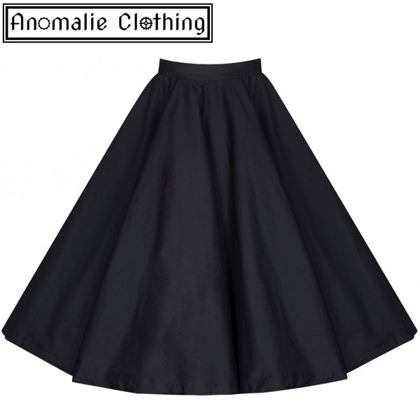 Peggy Rock 'n' Roll Circle Skirt in Black