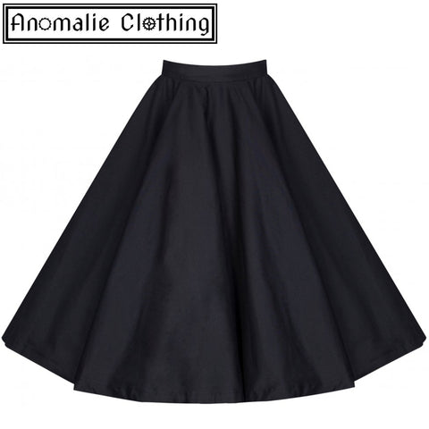 Peggy Rock 'n' Roll Circle Skirt in Black - One Size UK 10 (AU 8) Left!