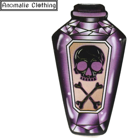 Purple Poison Bottle Brooch