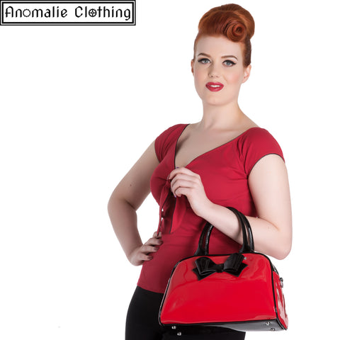 Red & Black Lola Handbag