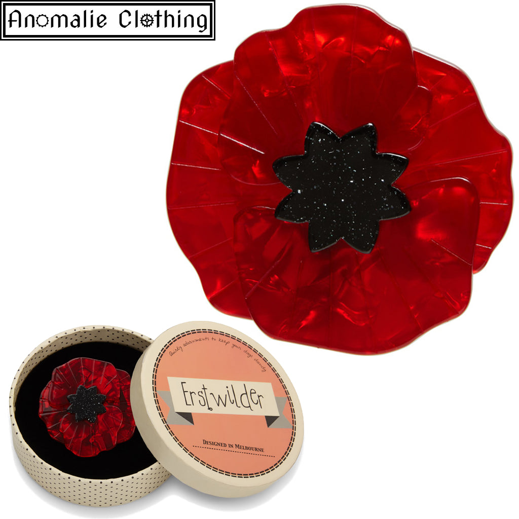 Poppy Field Brooch