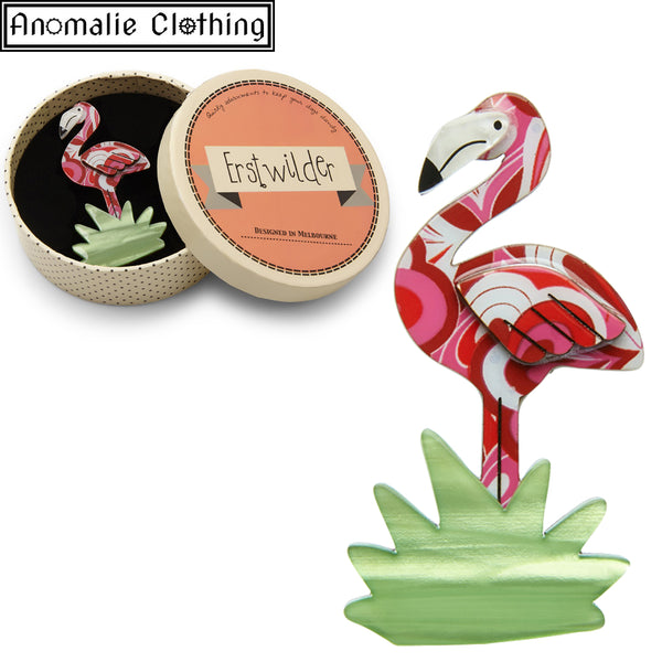Flamboyant Flamingo Funk Brooch