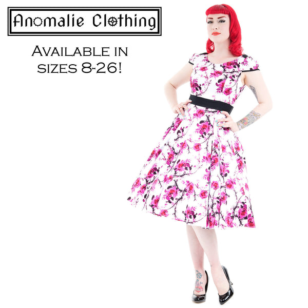 Pink & White Floral Romelia Swing Dress