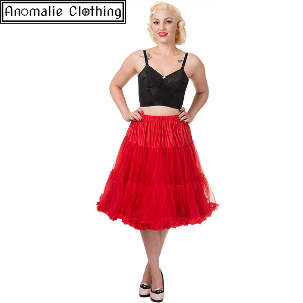 "26"" Long Lifeforms Petticoat in Red"