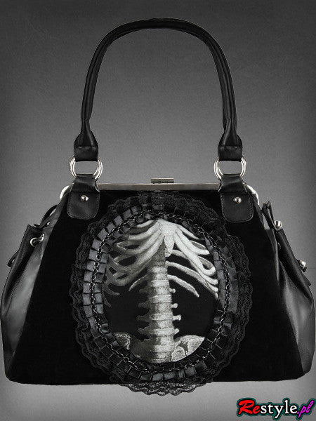 Black & White X-ray Skeleton Handbag