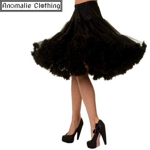 "26"" Long Lifeforms Petticoat in Black"