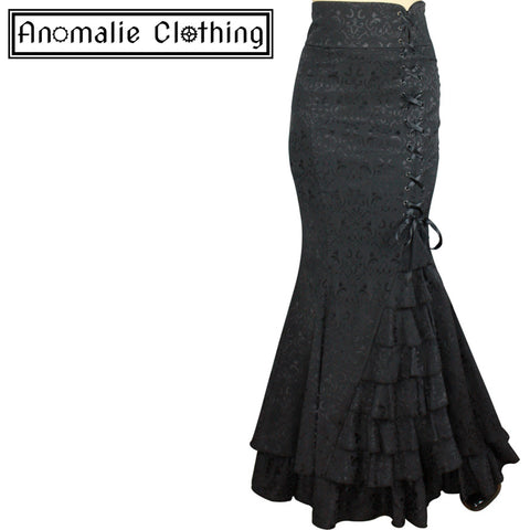 a41ca0b11c865 Chic Star.  53.00  33.00 · Black Jacquard Laces and Ruffles Fishtail Skirt