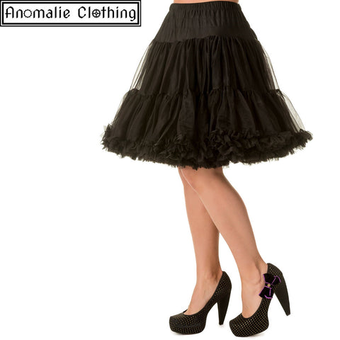 "20"" Short Dancing Days Petticoat in Black - One Size XL-2XL Left!"