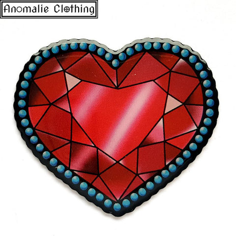 Crystal Heart Brooch - Discontinued