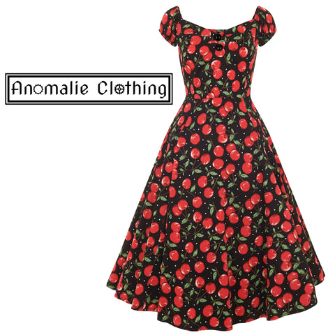 Cherry Print Dolores Doll Dress - One XXS Left!