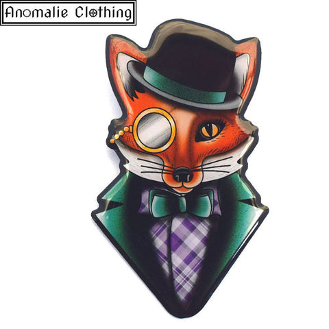 Felix The Dapper Fox Brooch