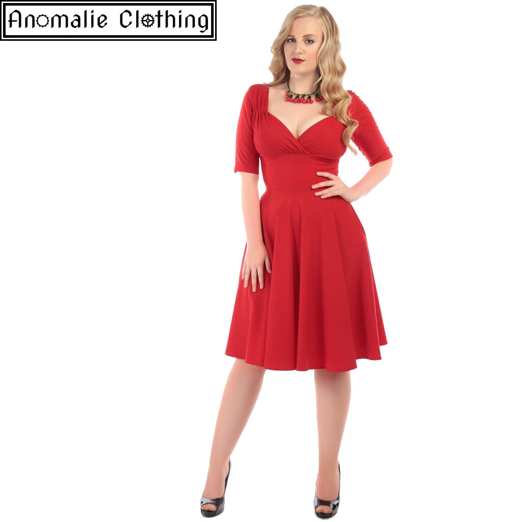 Trixie Doll Dress in Red