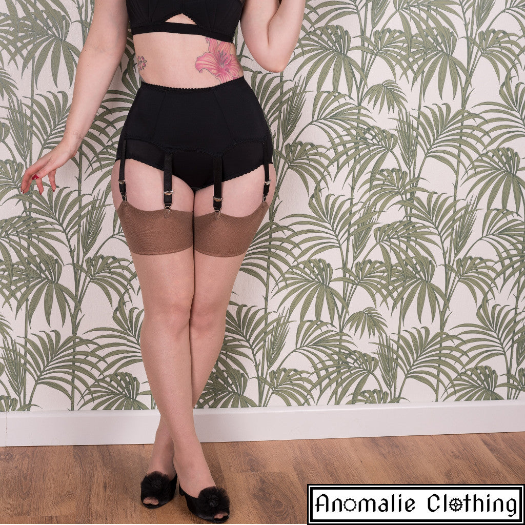 f9615270911 What Katie Did Glamour Seamed Stockings in Latte at Anomalie Clothing
