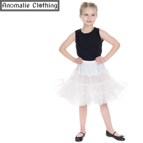 Kids Petticoat in White - One Size Age 5-6 Left!