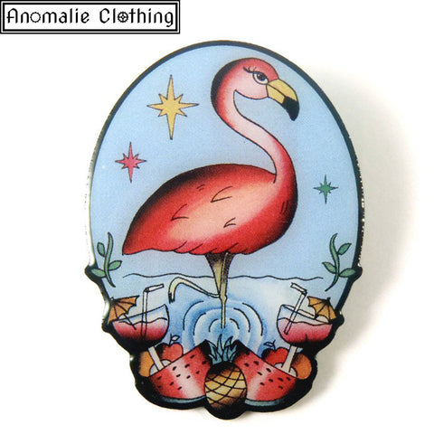 The Flamboyant Flamingo Brooch