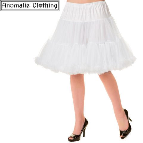 "20"" Short Dancing Days Petticoat in White"