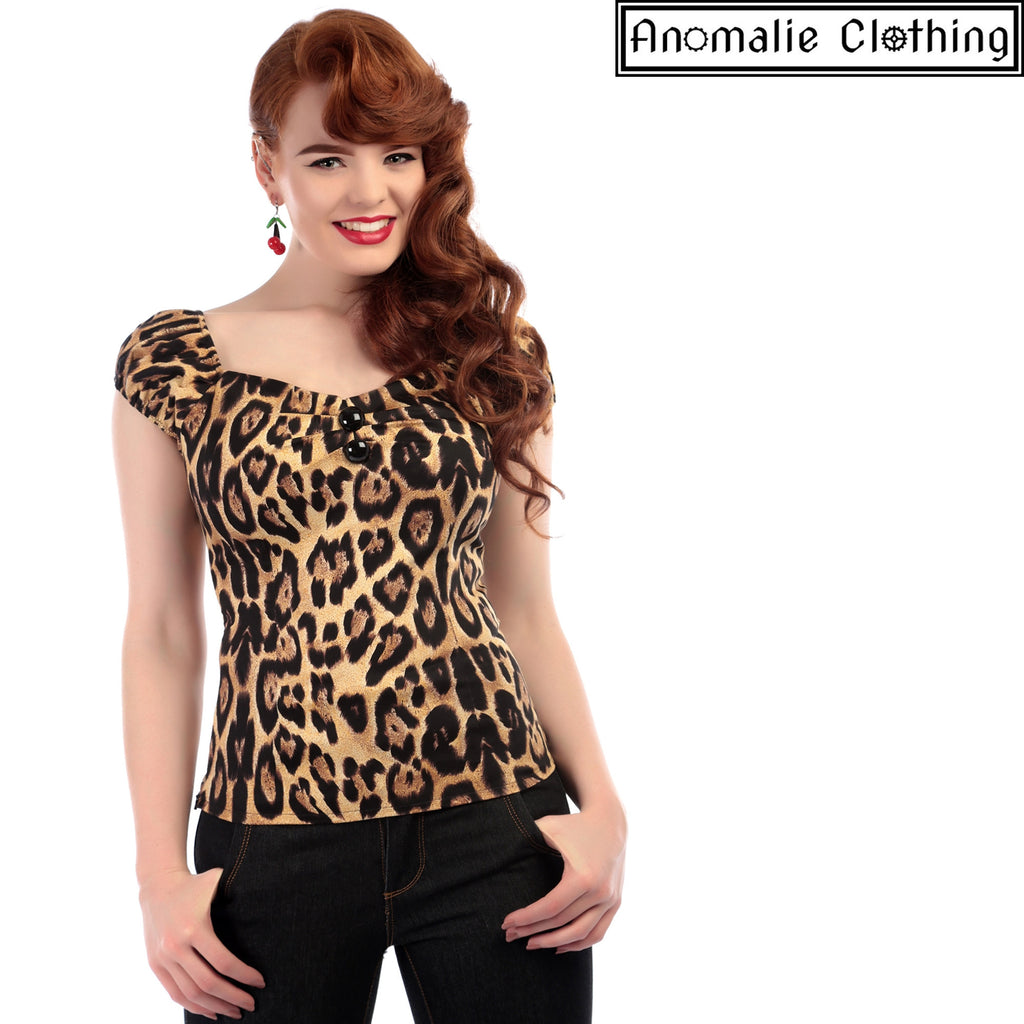 Dolores Top in Feral Leopard Print