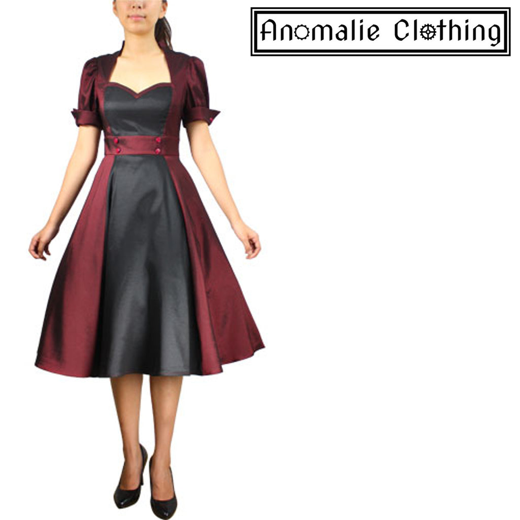 c0f058844029 Burgundy and Black Contrast Swing Dress by Chic Star – Anomalie Clothing