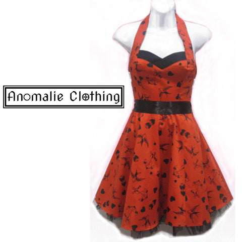 Red & Black Tattoo Short Dress - Discontinued