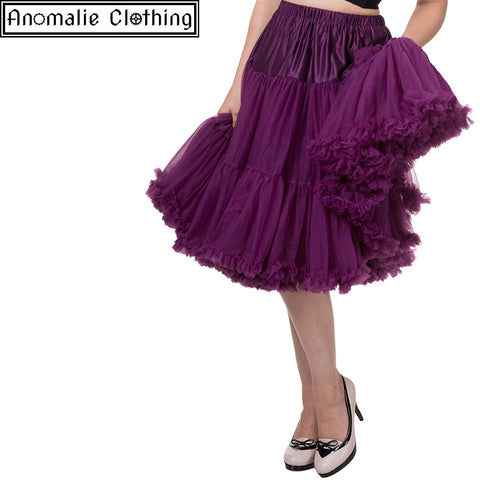 "26"" Long Lifeforms Petticoat in Aubergine - Discontinued"