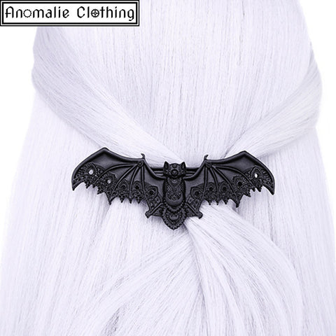 Black Lace Bat Hair Clip