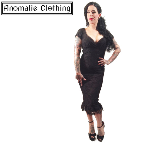 Black Lace Spanish Harlot Annabella Dress