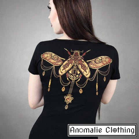 Brown & Black Steampunk Beetle T-Shirt - Discontinued