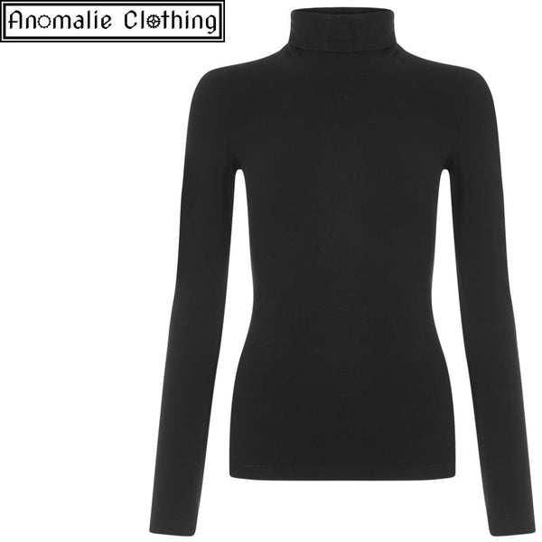 Tova Turtle Neck Top in Black