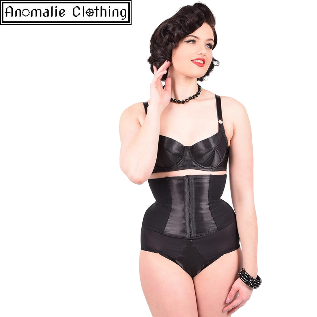 Glamour Nouveau Waspie in Black