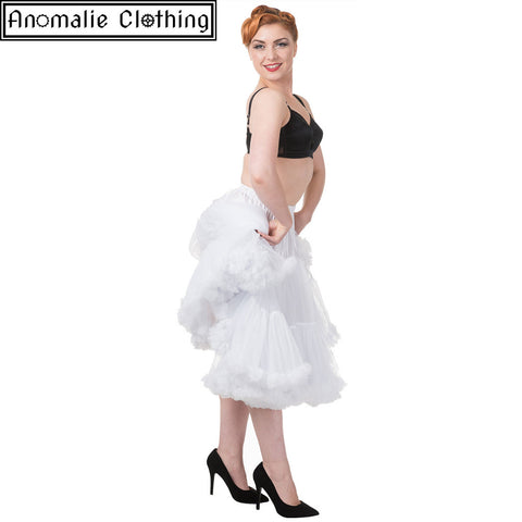 "26"" Long Lifeforms Petticoat in White"