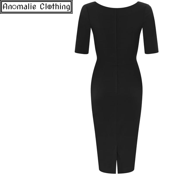 Trixie Pencil Dress in Black