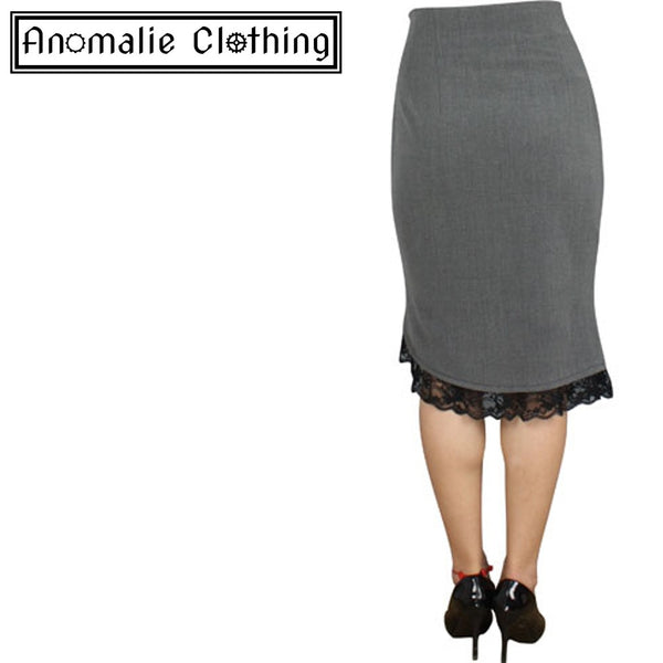 Grey Pin Up Ruffle Skirt
