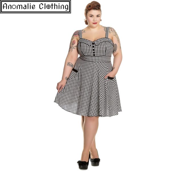 Bridget Mini Dress in Black & White Gingham